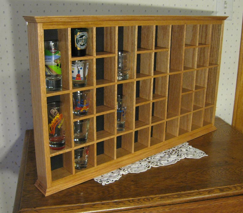 Built This Shot Glass Display Case It S Easy
